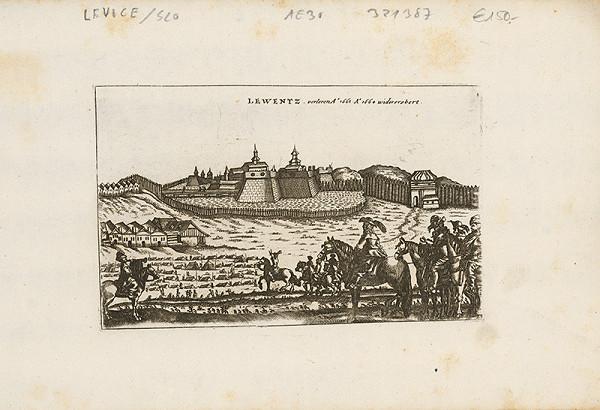 Neznámy grafik – Pohľad na pevnosť Levice v roku 1664