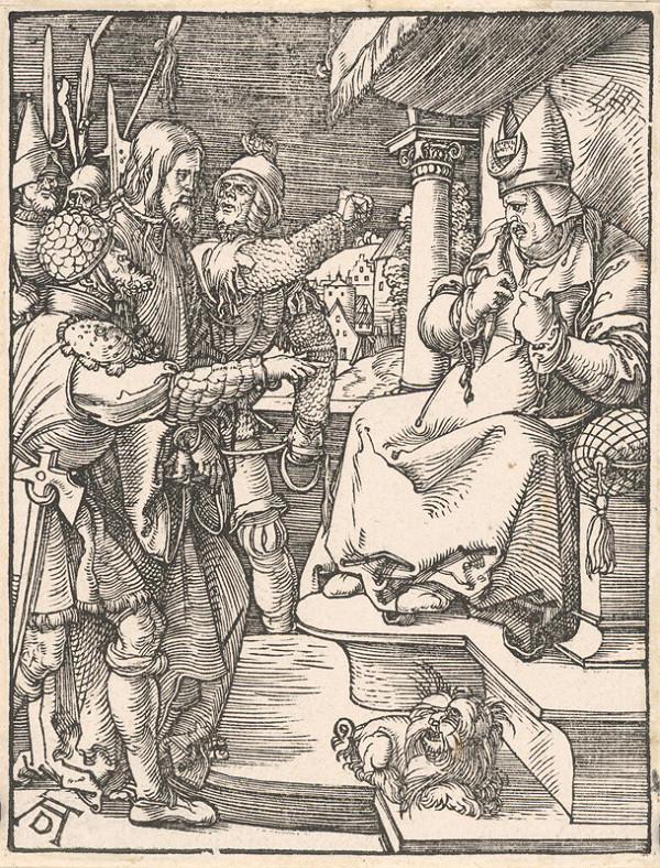 Albrecht Dürer - Kristus pred Kaifášom