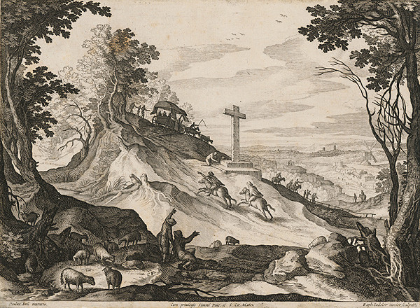 Paul Bril, Raphael Sadeler II. – Krajina s krížom