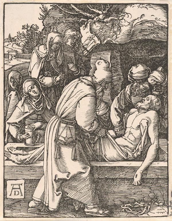 Albrecht Dürer – Ukladanie Krista do hrobu