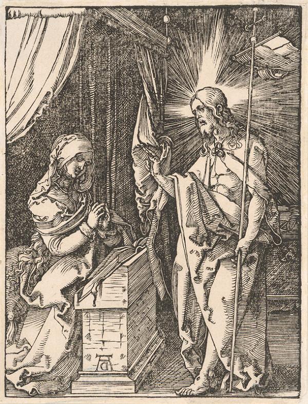 Albrecht Dürer - Kristus sa zjavuje Márii