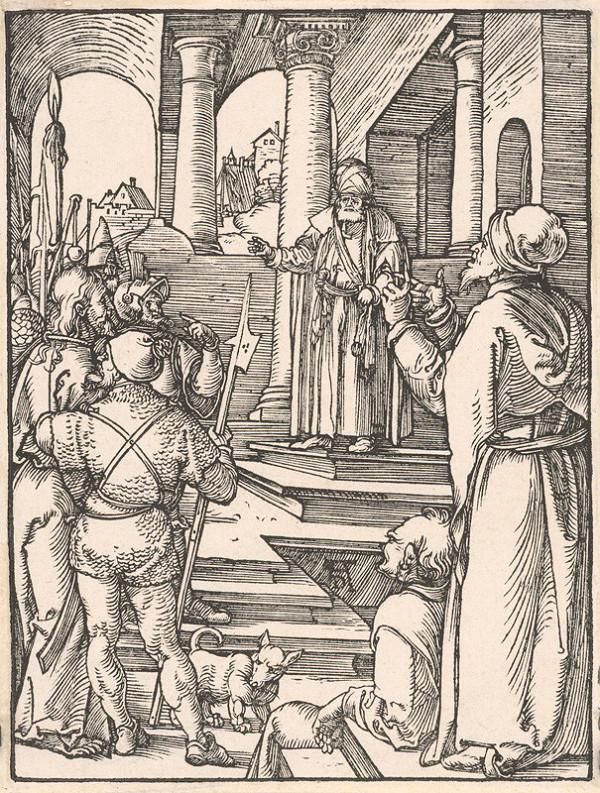 Albrecht Dürer – Kristus pred Pilátom