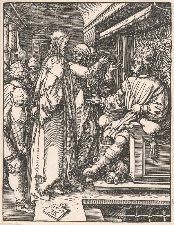 Albrecht Dürer – Kristus pred Herodesom