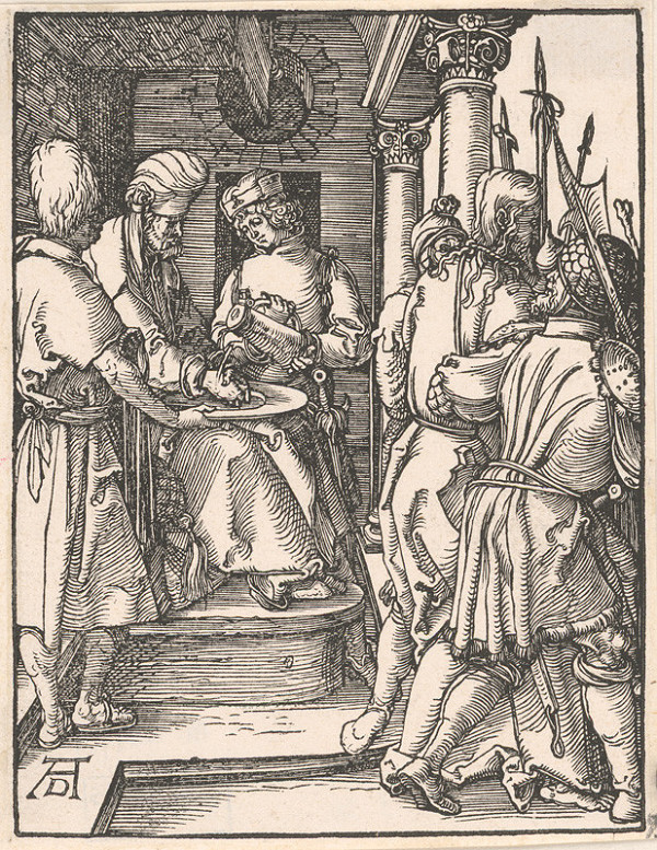 Albrecht Dürer - Pilát si umýva ruky