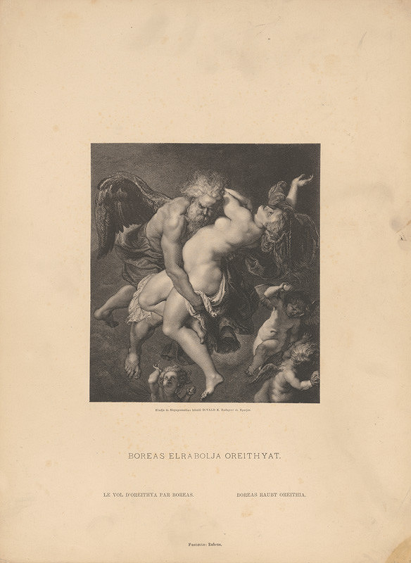 Karol Divald - Peter Paul Rubens: Boreas unáša Oreithyiu