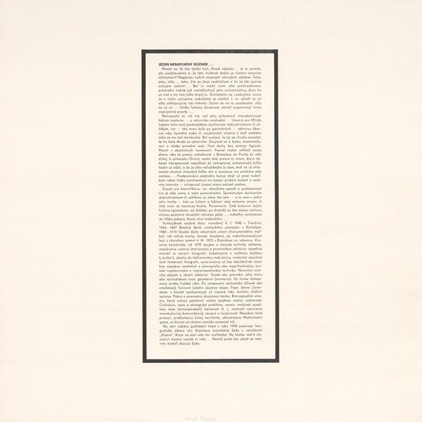 Tomáš Štrauss - Album SYMPOSION III/76 nekrológ