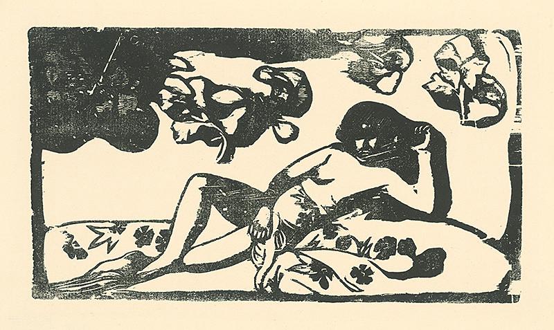 Paul Gauguin – Ležiaca Tahiťanka, 1890 – 1903, Slovenská národná galéria