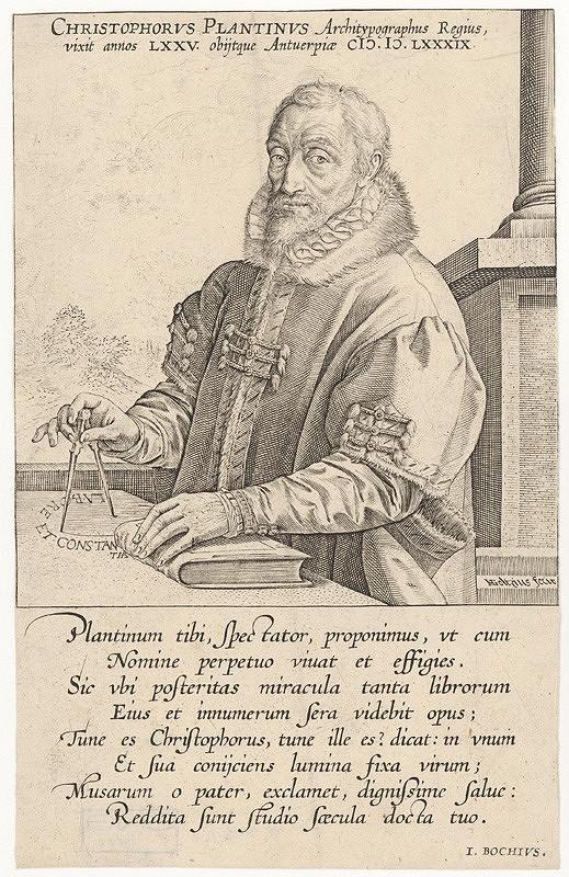 Hendrick Goltzius – Podobizeň Christofora Plantina