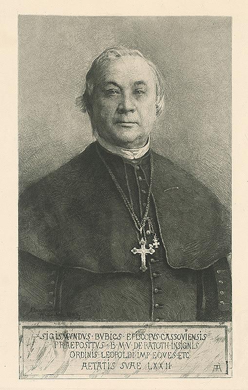 Ákos Aranyossy - Podobizeň košického biskupa Žigmunda Bubiča