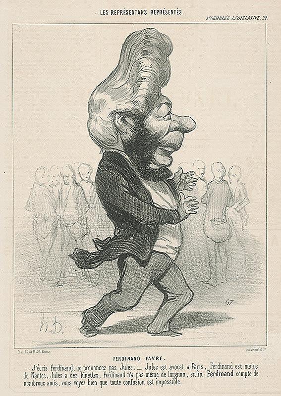 Honoré Daumier – Ferdinand Favre