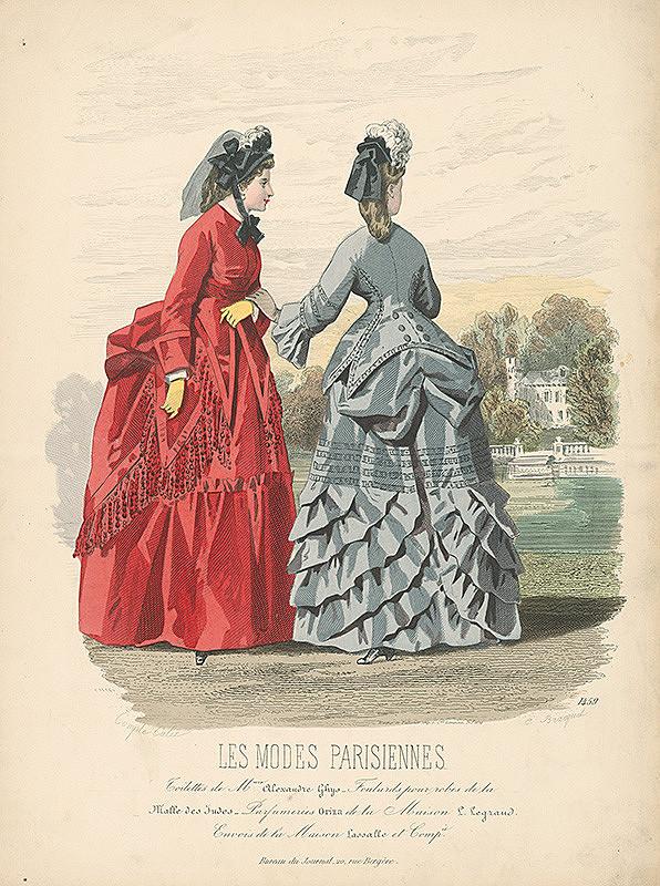 E. Bracquel, Francois Claudius Compte-Calix, E. Bracquet - List z módneho časopisu Les Modes Parisiennes. Módne návrhy Madame Ghys