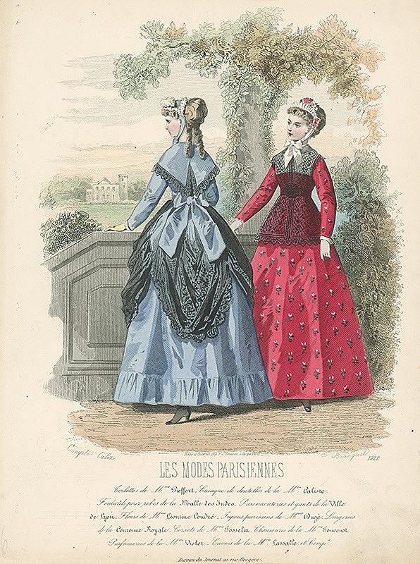 Francois Claudius Compte-Calix, E. Bracquet – List z módneho časopisu Les Modes Parisiennes. Módne návrhy Mme Piefort