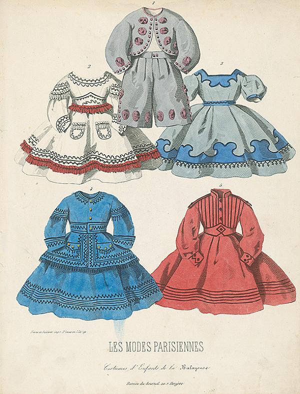 E. Bracquel, Francois Claudius Compte-Calix, E. Bracquet – List z módneho časopisu Les Modes Parisiennes. Detské obleky
