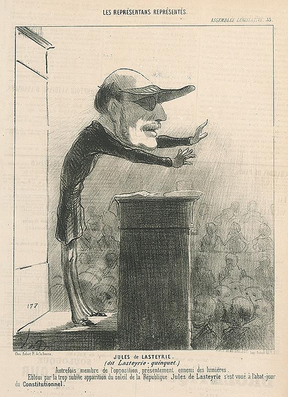 Honoré Daumier - Jules De Lasteyrie