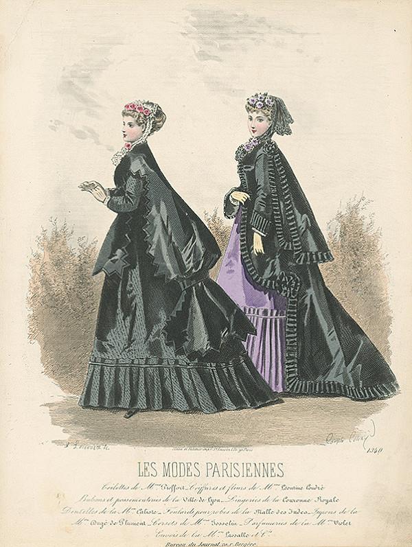 Francois Claudius Compte-Calix, Atelier Lacouriere - List z módneho časopisu Les Modes Parisiennes. Návrhy plášťov od Mme Pieffort