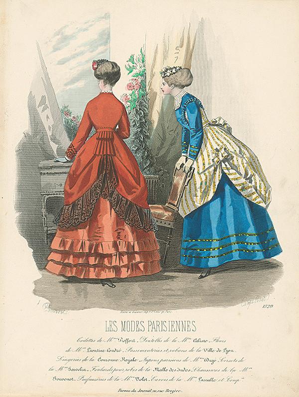Francois Claudius Compte-Calix, Atelier Lacouriere - List z módneho časopisu Les Modes Parisiennes. Návrhy šiat Mme Pieffort