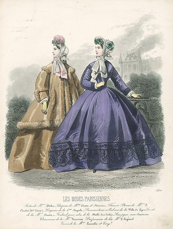 Atelier Lacouriere – List z módneho časopisu Les Modes Parisiennes. Modely šiat od Mme.Bluhm