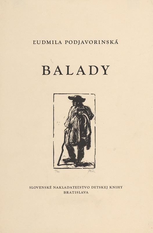 Tibor Gáll – Balady Ľ.Podjavorinskej- Titulný list