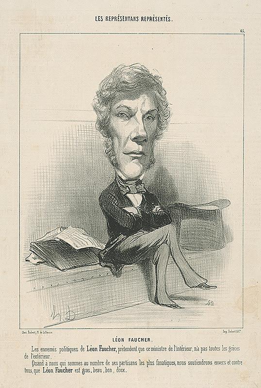 Honoré Daumier – Léon Faucher