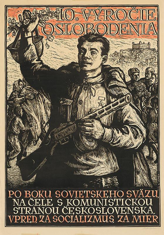 Ľudovít Lehen – Návrh na plagát k 10.výročiu oslobodenia