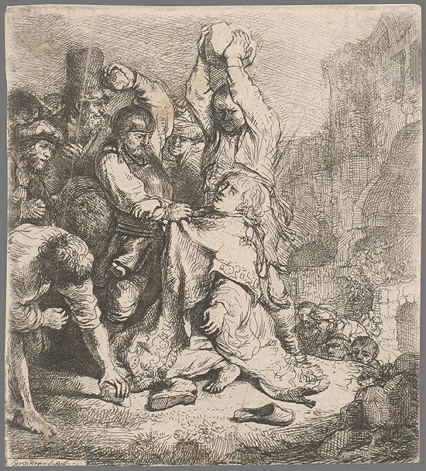 Rembrandt van Rijn - Ukameňovanie svätého Štefana (Sk 7, 55-60)