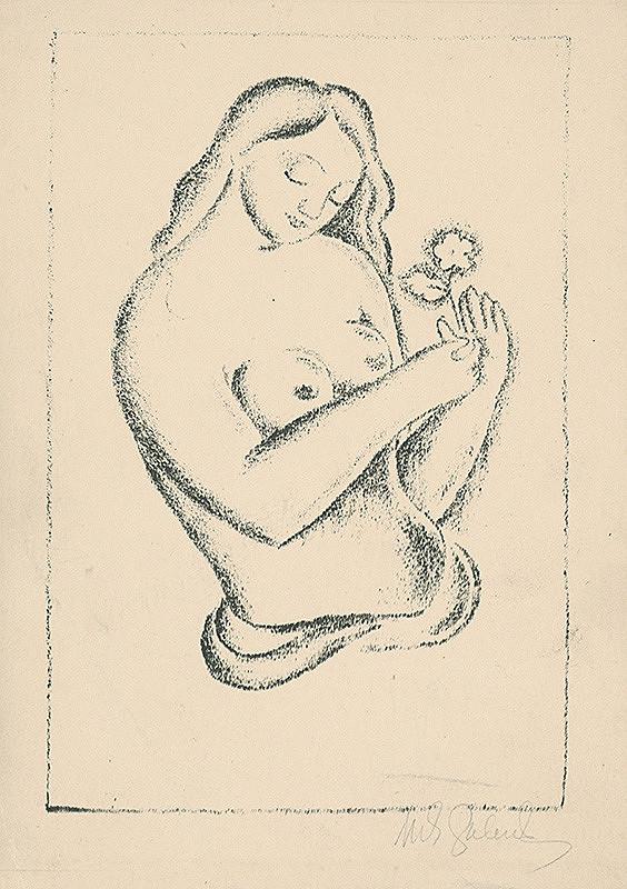 Mikuláš Galanda – Žena s kvetinou