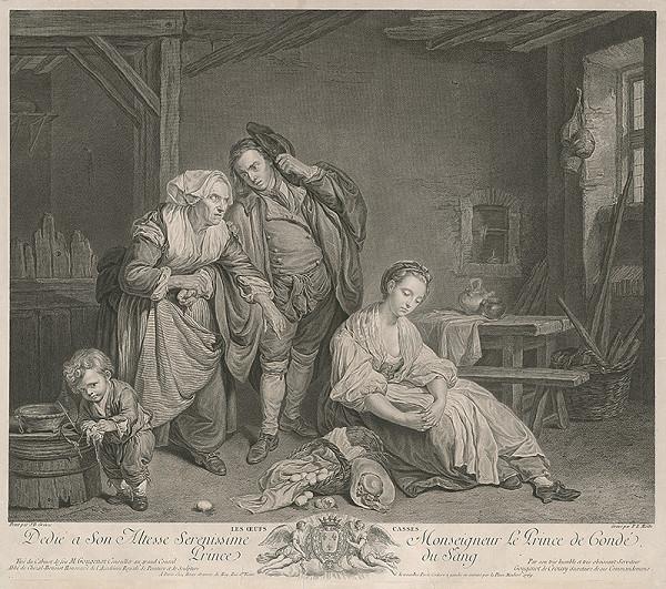 Pierre Etienne Moitte, Jean Baptiste Greuze – Rozbité vajíčko