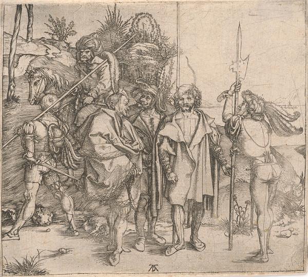 Albrecht Dürer – Landsknechti a turecký jazdec