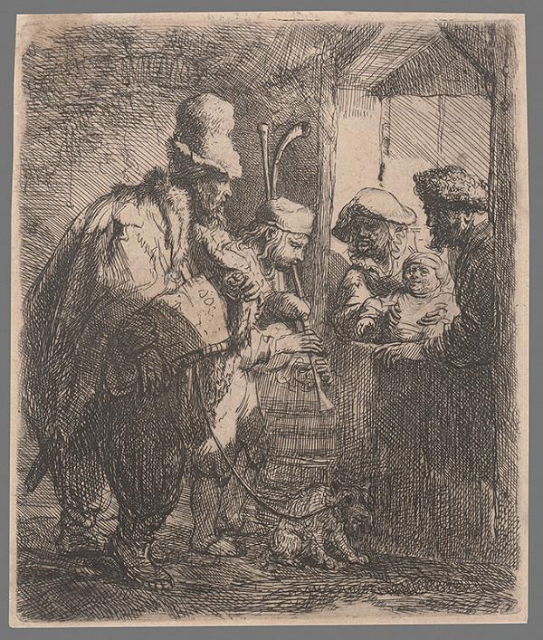 Rembrandt van Rijn – Potulní muzikanti