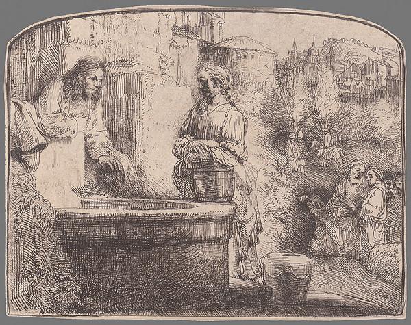Rembrandt van Rijn - Kristus a samaritánka