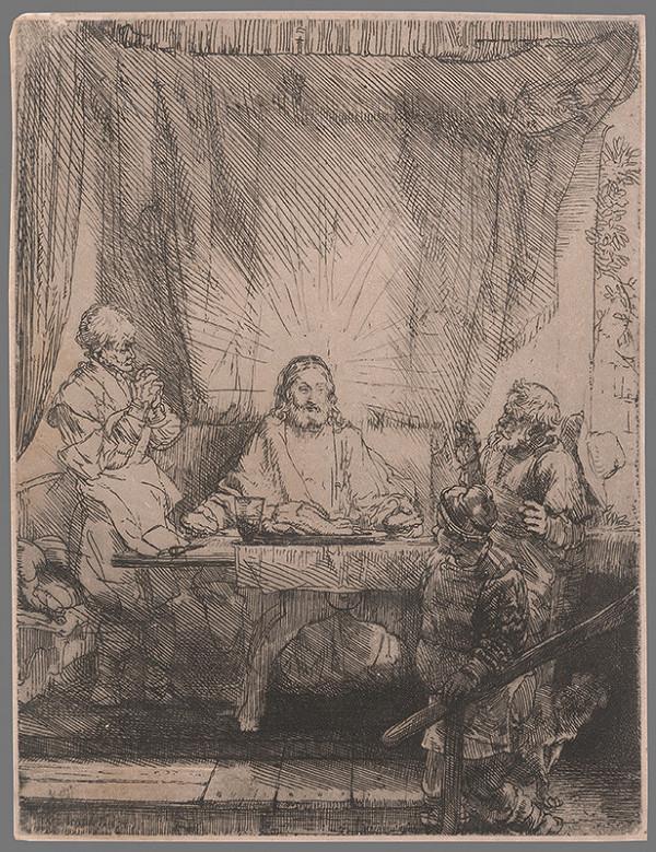 Rembrandt van Rijn - Večera v Emauzoch
