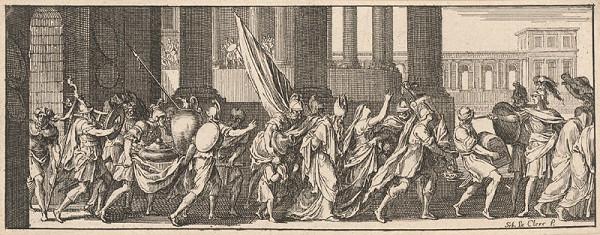 Sebastien Le Clerc st. - Ukoristenie chrámového pokladu