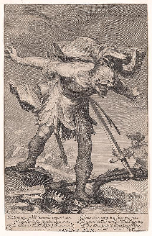 Abraham Bloemaert, Willem van Swanenburg - Smrť Saula