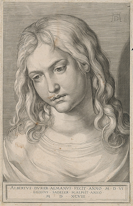 Aegidius Sadeler II., Albrecht Dürer - Hlava chlapca