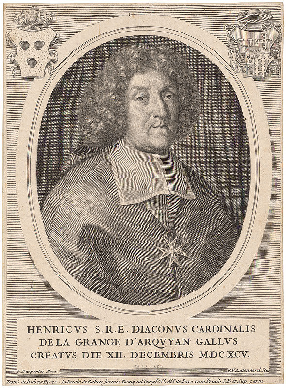 Robert van Audenaerd, Francois Alexandre Desportes - Portrét kardinála Henricha de la Grance d'Arguyan