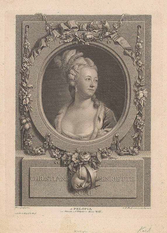 Johann Friedrich Bause, Anton Graff – Christiane Henriette Koch