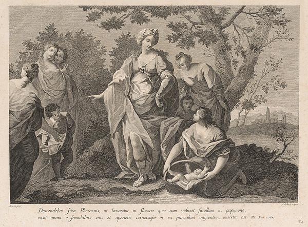 Amadeo Gabrielli, Jacopo Amigoni – Nájdenie Mojžiša