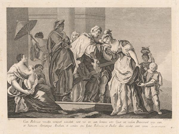 Amadeo Gabrielli, Jacopo Amigoni - Abrahám a Rebeka