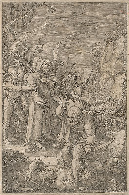 Hendrick Goltzius - Zajatie Krista
