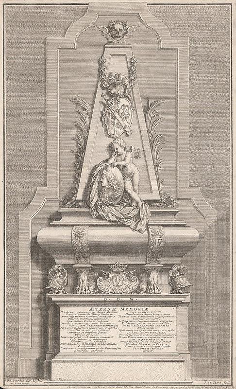 Francois Girardon, Sebastien Le Clerc st. – Náhrobok Claudia Bonneau de Purnon