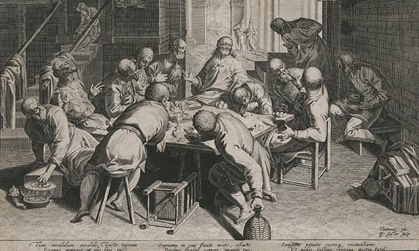 Aegidius Sadeler II., Domenico Tintoretto - Posledná večera
