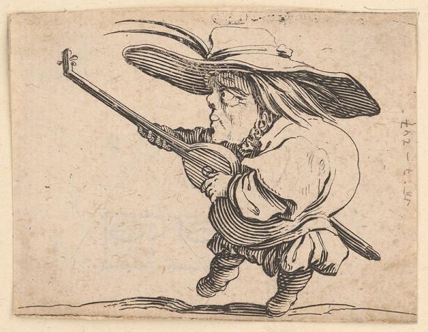 Jacques Callot – Pidimužík s lutnou