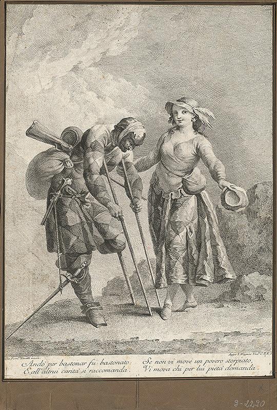 Joseph Wagner, Giovanni Domenico Ferretti - Výjav z talianskej komédie