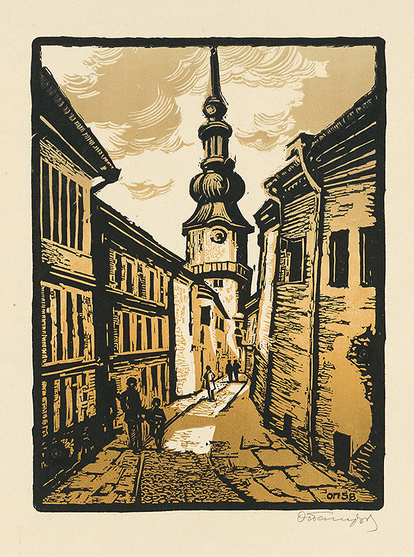 Alexandr Sofronov Paščenko - Baštová ulica v Bratislave