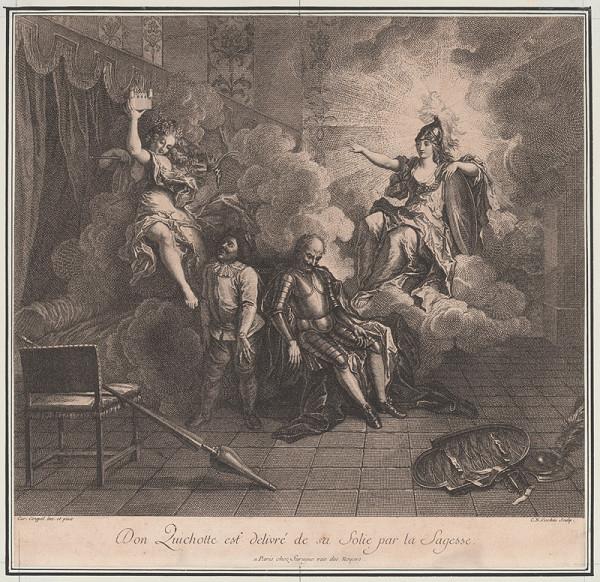 Charles-Nicolas Cochin ml., Charles-Antoine Coypel – Múdrosť oslobodzuje Dona Quijota