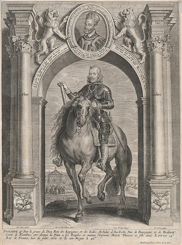 Pieter de Iode, Anthony van Dyck - Filip IV
