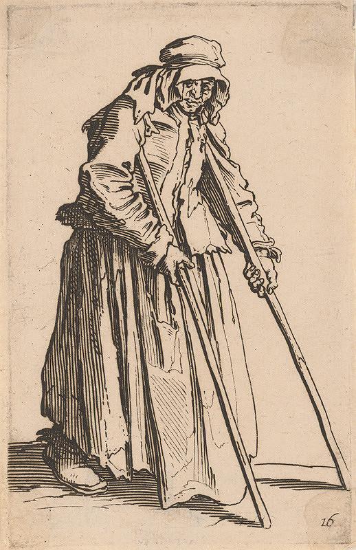 Jacques Callot – Žobráčka s palicami