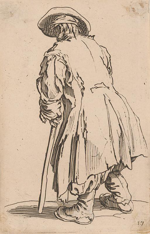Jacques Callot - Starec s klobúkom a palicou