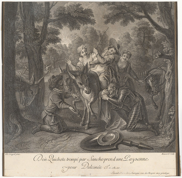 Jean Baptiste Haussard, Charles-Antoine Coypel – Don Quijote pred falošnou Dulcineou