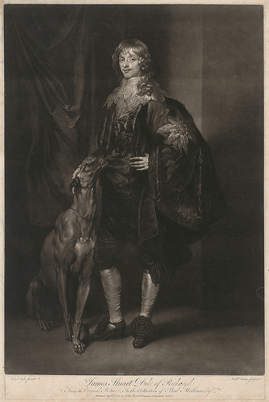 Richard Earlom, Anthony van Dyck – James Stuart
